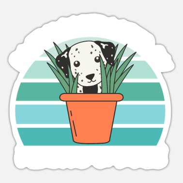 Koala Easily Distracted By Plants And Dogs Dalmatiner - Sticker