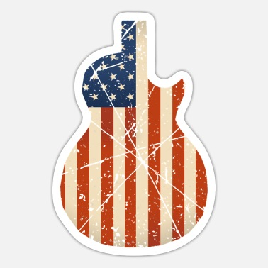 Countrymusic Country Music Retro Vintage Guitar - Sticker