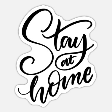 Epidemic stay at home - Sticker