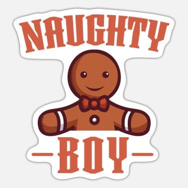 Naughty Boy Naughty Boy Christmas Gingerbread Naughty List - Sticker