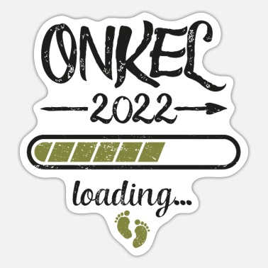 22 Uncle 2022 Loading Pregnancy Birth Family - Sticker