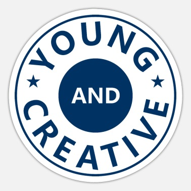 Young Persons young and creative - Sticker