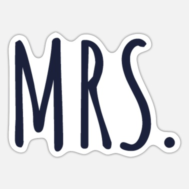 Mr mr and mrs - Sticker