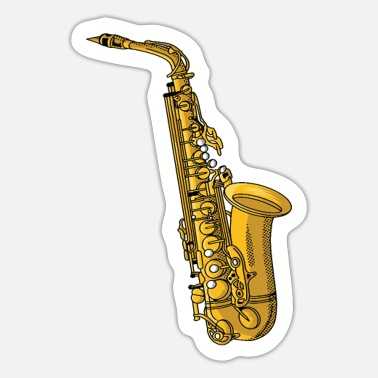 Musical Instruments Saxophone music musical instrument - Sticker