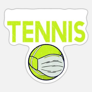 Funny Tennis tennis, tennis player, funny, tennis court - Sticker
