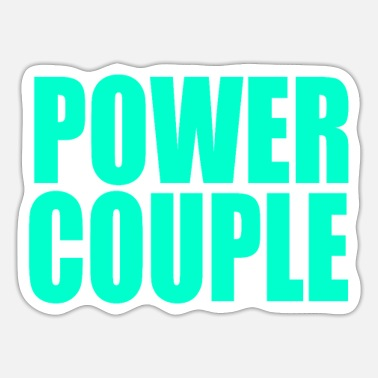 Couple Man Woman Power Couple - Sticker
