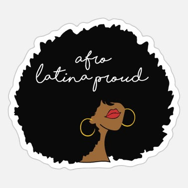 Dominican Proud Afro Latina - Sticker