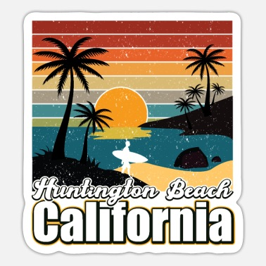 Surfing Huntington Beach California - Sticker