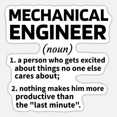 Engineering Mechanical Engineering Gifts Mechanical Engineer - Sticker