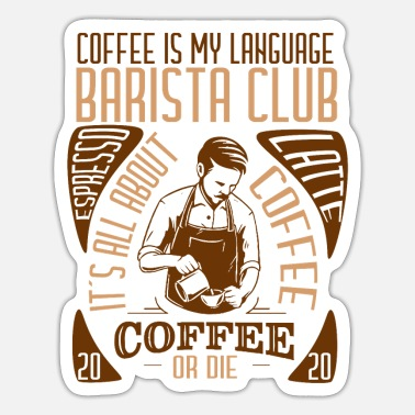 Club Barista club gift coffee coffee lover - Sticker