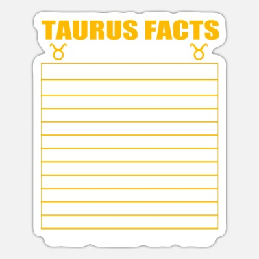 Astronomy Taurus Nutrition Facts - Sticker