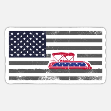Stars 4th of july, 4th of july pontoon captain, captain - Sticker