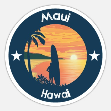 Maui Maui Hawaii - Sticker
