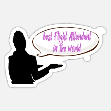 Privateer best Flight Attendant in the world - Sticker