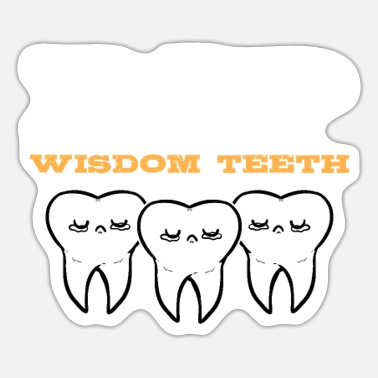 Toothpaste Funny Wisdom Teeth Dental Dentistry Tooth Doctor - Sticker