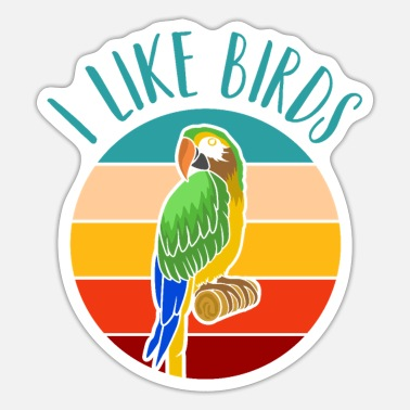 Eagles I Like Birds! Happy Birds Day Retro Vintage - Sticker