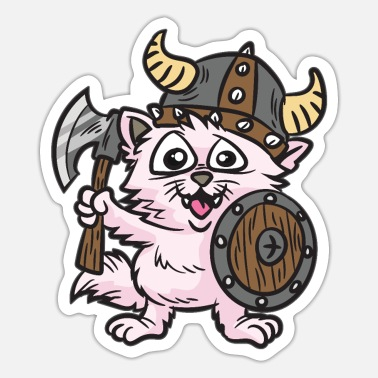 Thor Funny Cat Viking - Sticker