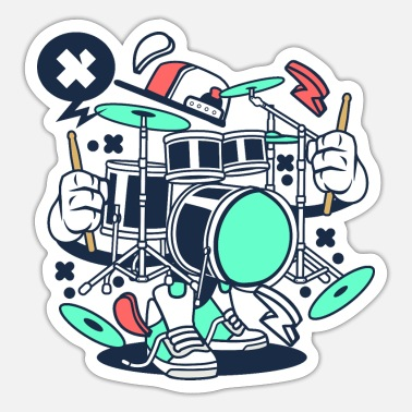 Set Fire Drum Set - Sticker