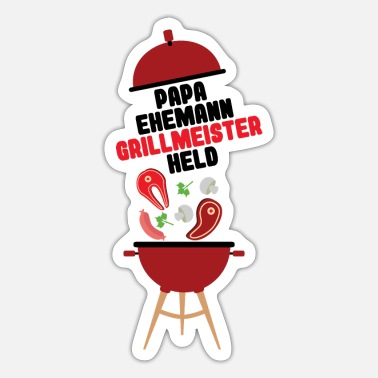 Grill Dad husband grill master gift BBQ chef - Sticker