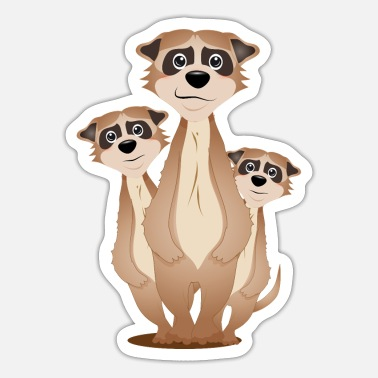 Factor funny meerkat group with cuddle factor - Sticker