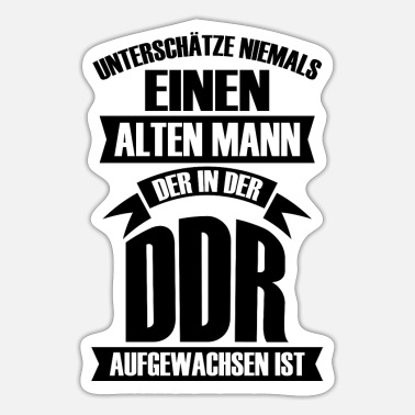 Stasi Old man raised gift East Germany - Sticker