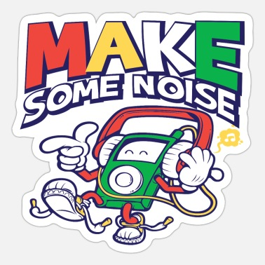 Mp3 Make Some Noise - Sticker