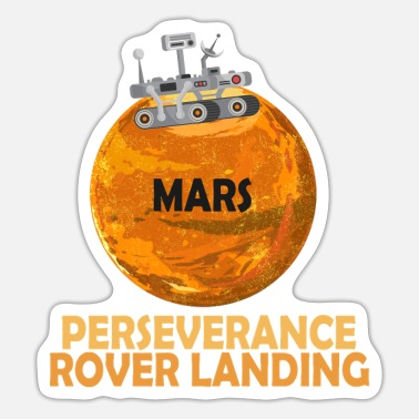Father's Day Rover Explorers Mars Landing Mission Space Gift - Sticker