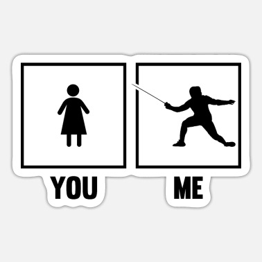 Sword Fight Fencing Epee Fencer Sword Fighter You Me Martial A - Sticker