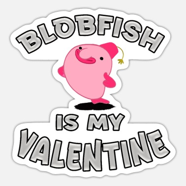 Blob blob,blobfish,pattern,ugly fish,Deep Sea Fish,Ugli - Sticker
