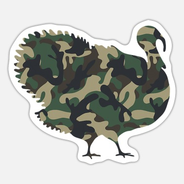 Force Camo Turkey Military Tactical Thanksgiving - Sticker