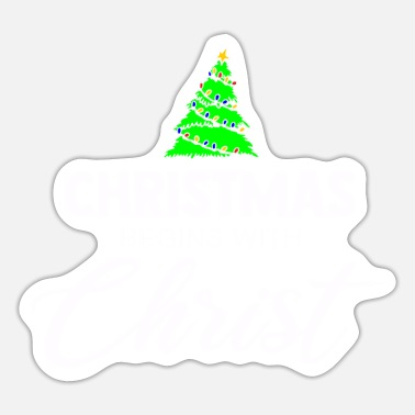 Feast Day Christmas X-Mas Tree Gift - Sticker