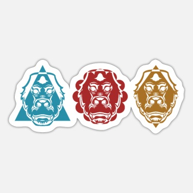 Monkeys Three Gorillas - Sticker