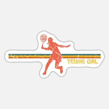 Tennis Trainer Women Tennis Player Tennis Girl - Sticker