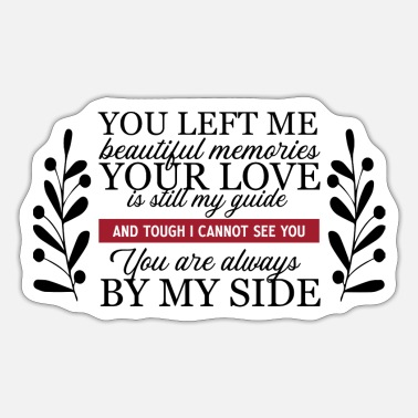 Us State You Left Me Beautiful Memories - Sticker