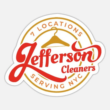 Jefferson Jefferson Cleaners, Serving NYC - Sticker