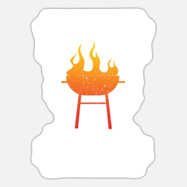 Bbq Grilling BBQ Steak Weight Hungry - Sticker