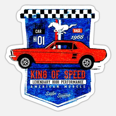 Retro Car T SHIRT KING OF SPEED - Sticker
