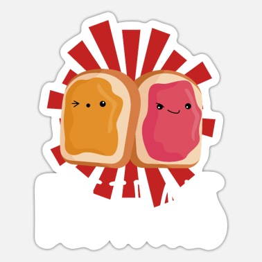 Funny Couple Peanut Butter Jelly Jam Best Friends Funny Couple - Sticker
