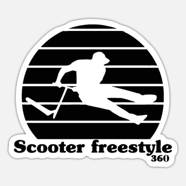 Music Club scooter freestyle Classic T Shirt - Sticker