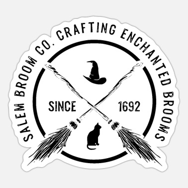 Broom Witch - Enchanted Brooms - bright - Sticker