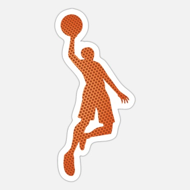 Father And Daughter Double Exposure Basketball Dunk Shot Gift Idea - Sticker