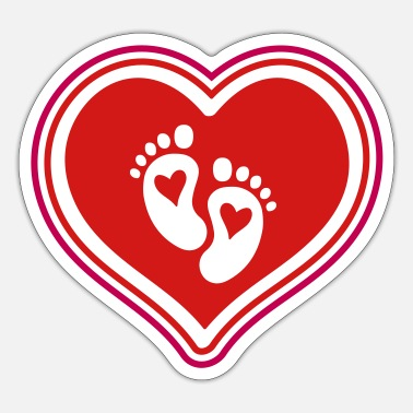 Iconic baby feet baby heart - Sticker