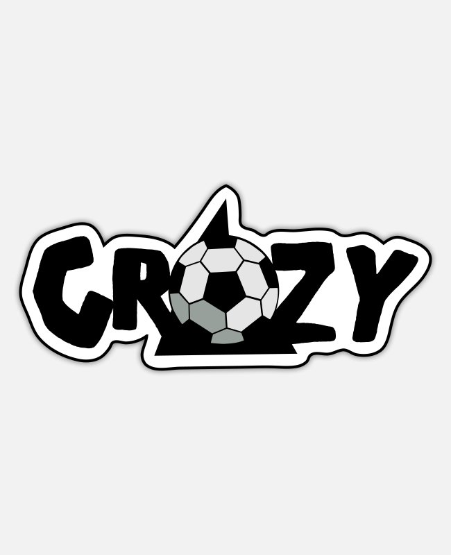 Mental Stickers - CRAZY SOCCER BALL FOOTBALL - Sticker white matte