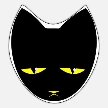 Unhappy BIG UNHAPPY CAT - Sticker