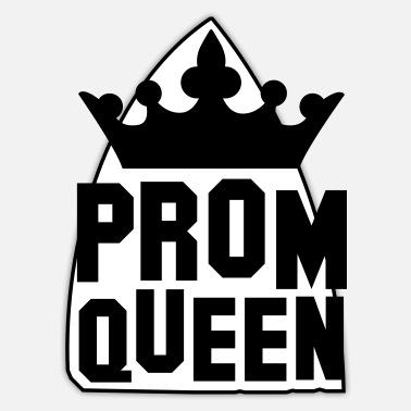 Prom PROM QUEEN with princess queen crown - Sticker