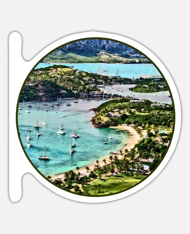 Travel Stickers - Antigua View Falmouth - Sticker white matte