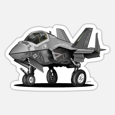F 35 F-35C Lightning II Joint Strike Fighter Il Cartoon - Sticker