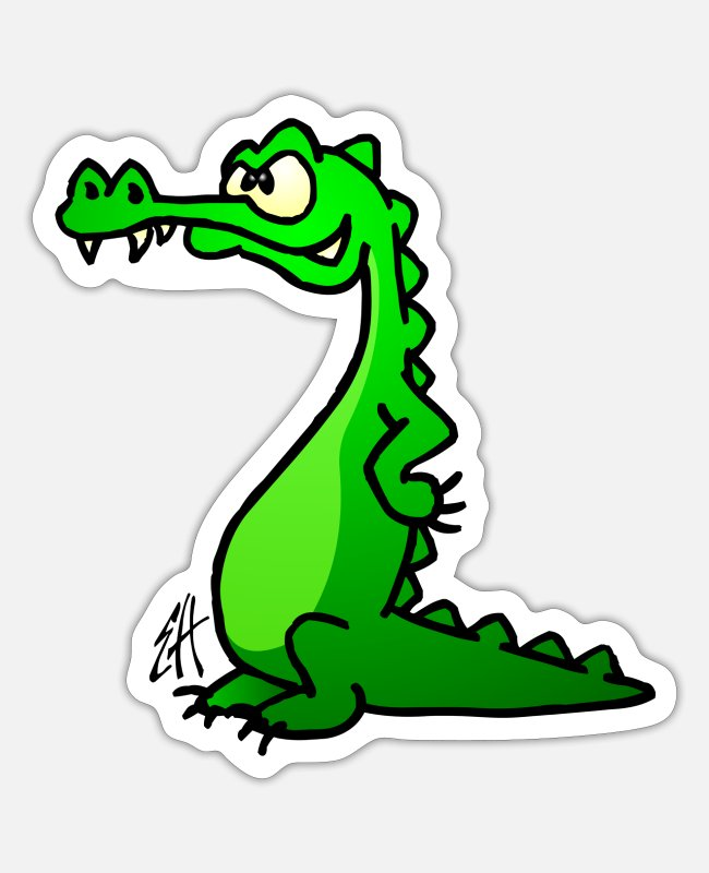 Cocodrilo Stickers - Crocodile - Sticker white matte