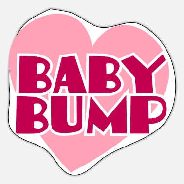 Baby Bump baby bump love heart - Sticker