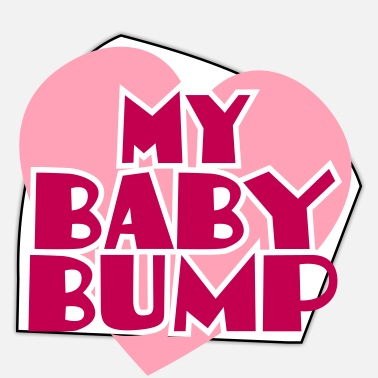 Baby Bump my baby bump pregnancy shirt - Sticker